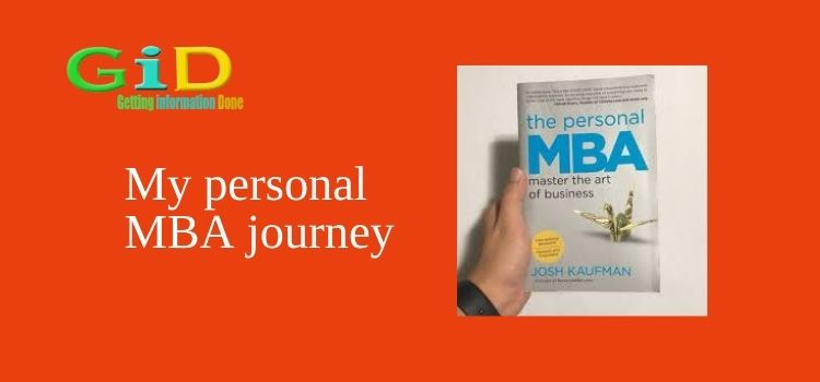 My personal MBA journey