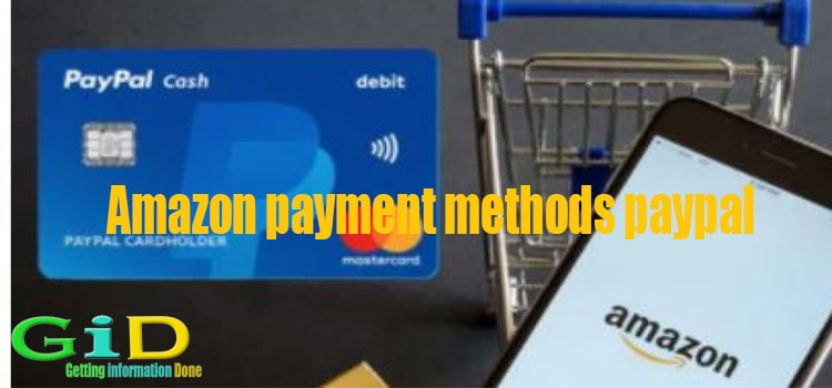 Amazon payment methods paypal