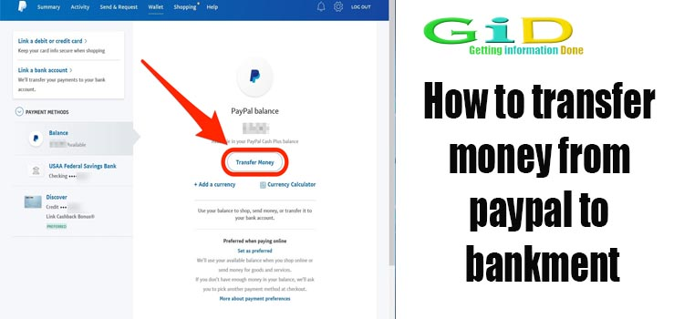 How to transfer money from paypal to bankment