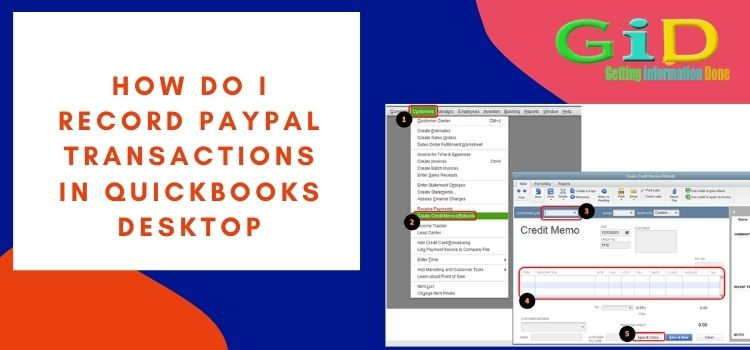 How do I record PayPal transactions in QuickBooks desktop