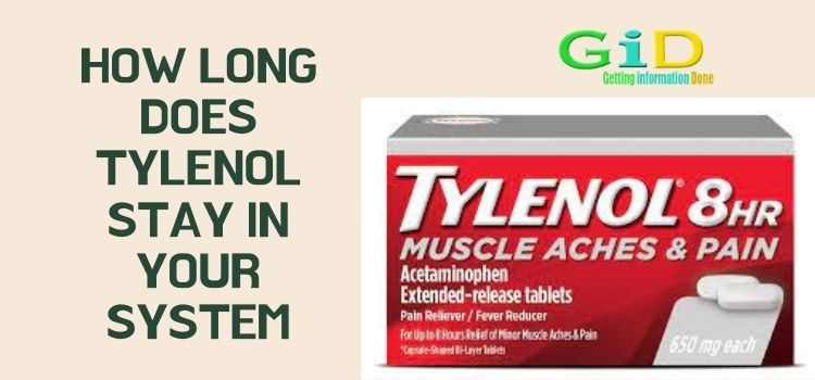 How long does tylenol stay in your system