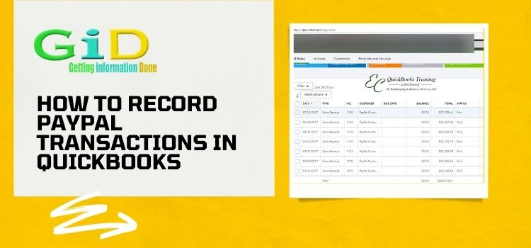 How to record paypal transactions in quickbooks