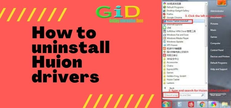 How to uninstall Huion drivers