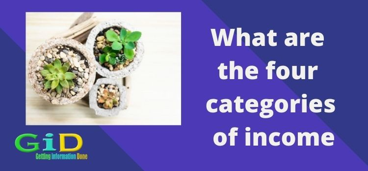 What are the four categories of income