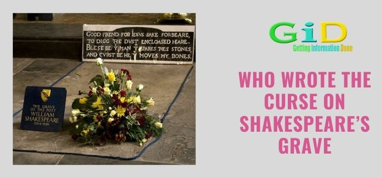 Who wrote the curse on Shakespeare's grave