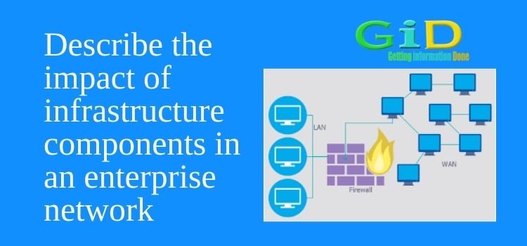 Describe the impact of infrastructure components in an enterprise network