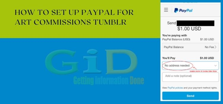 How to set up PayPal for art commissions Tumblr