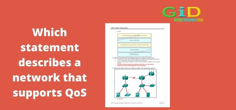 Which statement describes a network that supports QoS