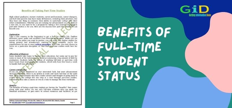 Benefits of Full-Time Student Status