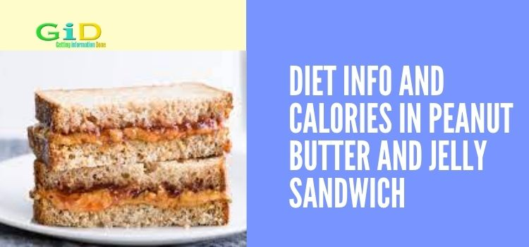 Diet Info and Calories in Peanut butter and jelly sandwich