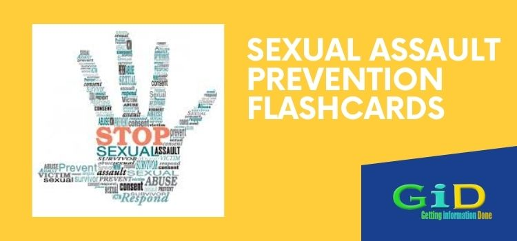 Sexual Assault Prevention Flashcards