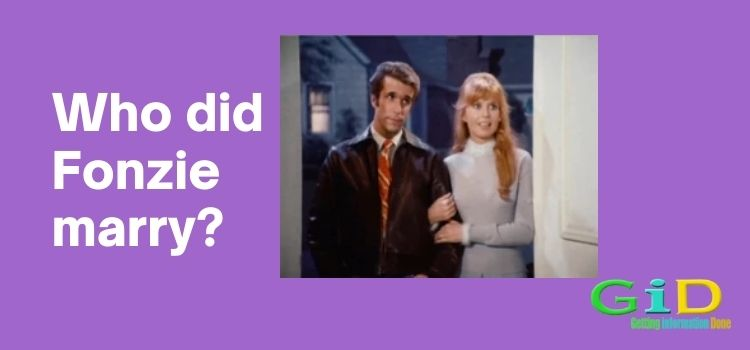 Who did Fonzie marry