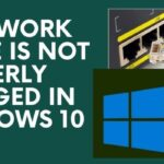 A network cable is not properly plugged in windows 10